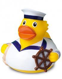 Quietsche-Ente Seemann weiß